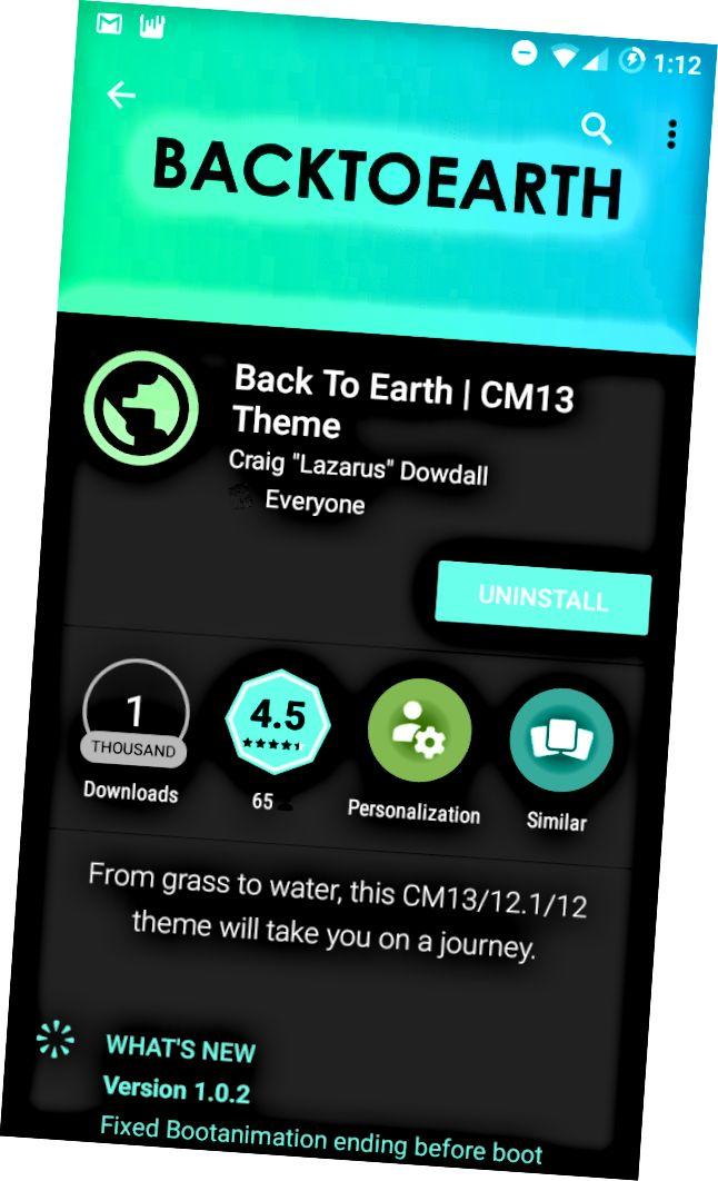 العودة إلى الأرض CM13