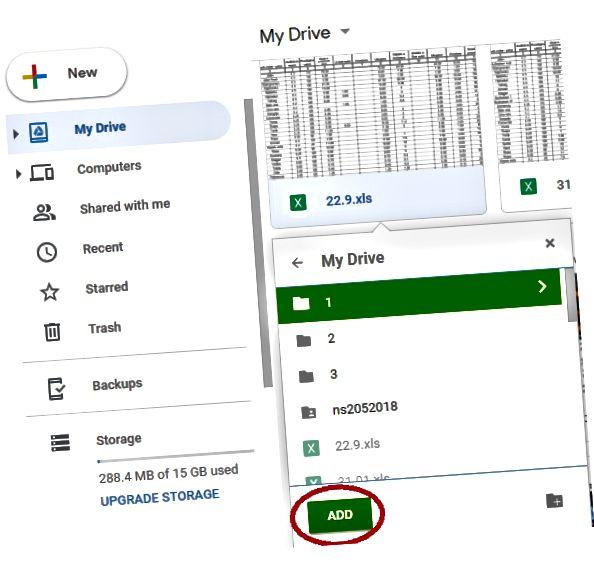 Google Drive qovluqlarına necə bir fayl əlavə etmək olar