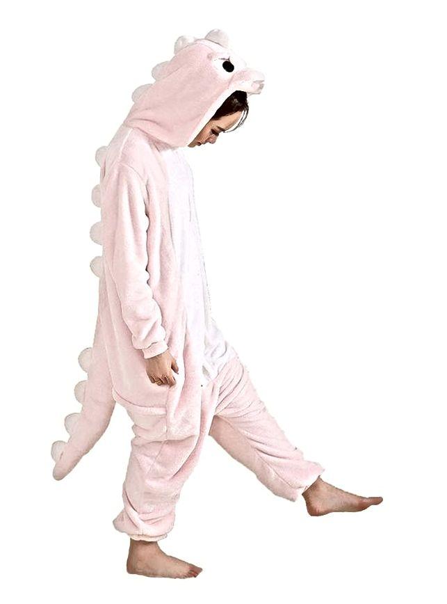 Aoibox odrasla dinosaura plišana jednodijelna pidžama