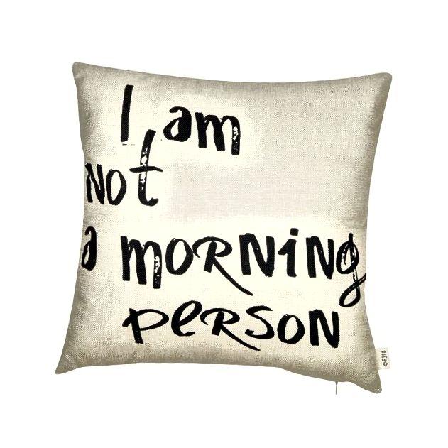 Fjfz Nisam ujutro osoba smiješno citati pamučna ukrasna jastučnica