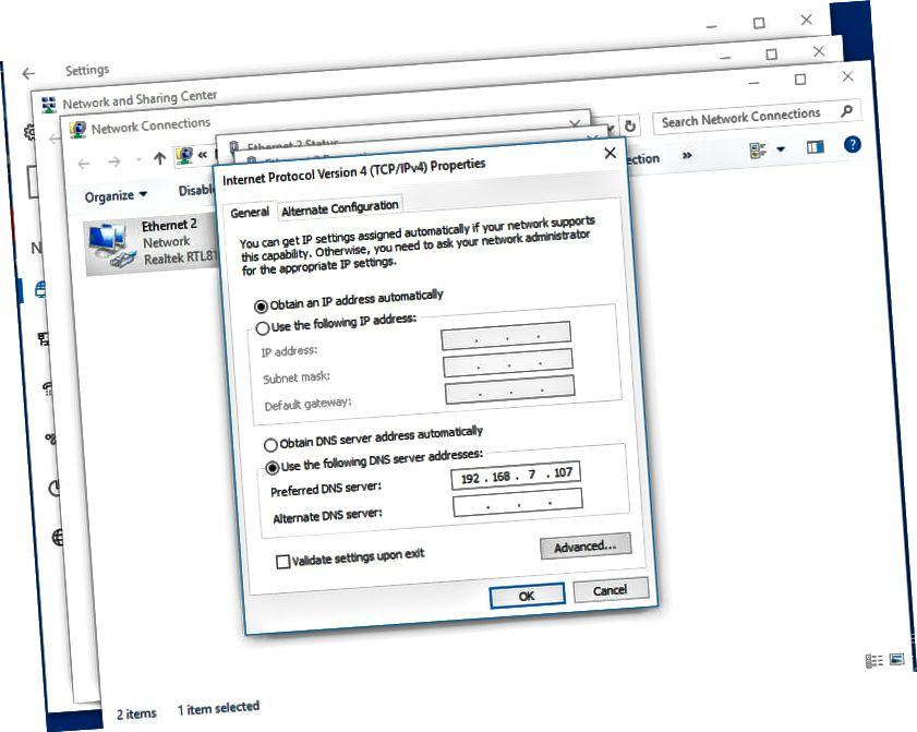 Windows 10 DNS