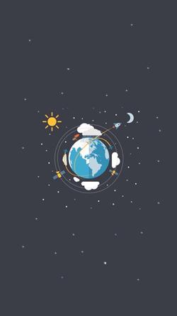 Země, satelity a měsíc