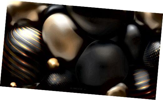 Abstraktní posh perly