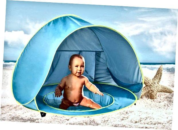 Prijenosno utočište za zaštitu od UV zraka za dojenčad
