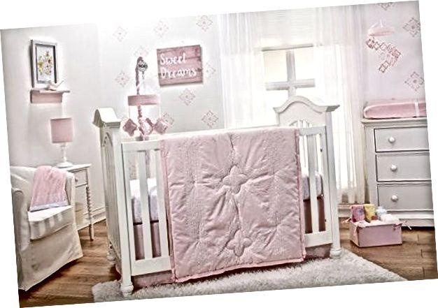 Sängkläder Ställer in fantastiska gåvor för baby shower