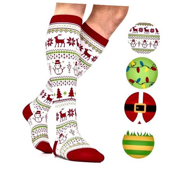 Božićne kompresijske čarape
