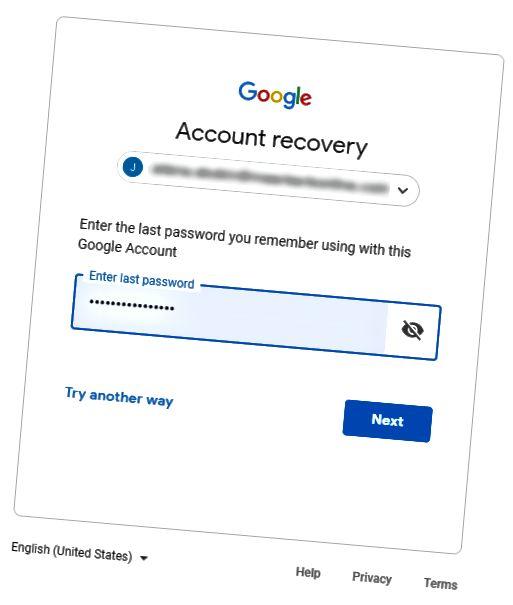 google lozinka
