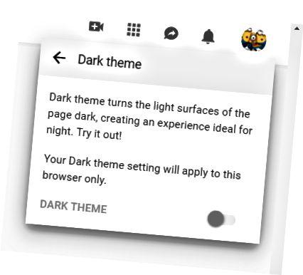 Σκοτεινή λειτουργία YouTube σε υπολογιστή