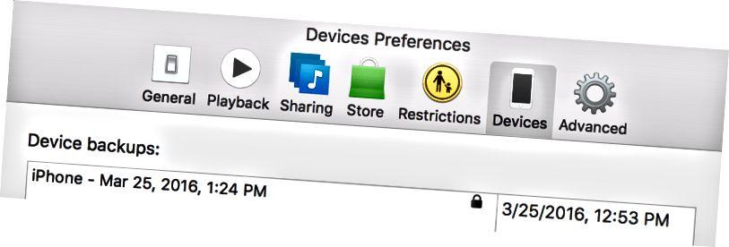 Dispositivi in iTunes