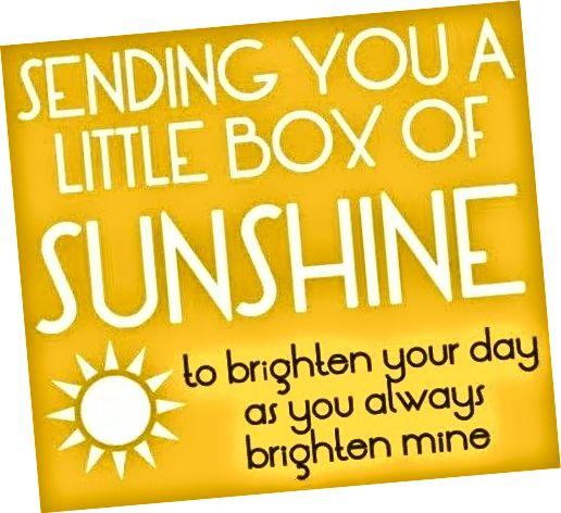 Poruka dobrog jutra za sunčanje