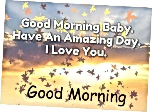 Dobro jutro dušo