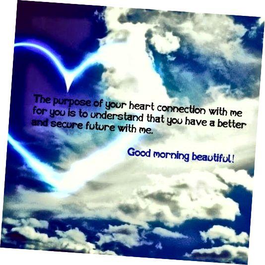 Romantična fotografija dobrog jutra za nju
