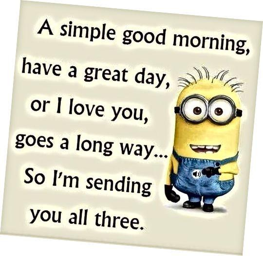 Ugodna poruka dobrog jutra