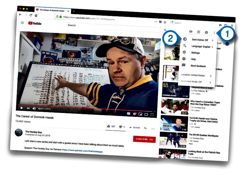 youtube σκούρο επισκέπτης επιφάνεια εργασίας θέμα