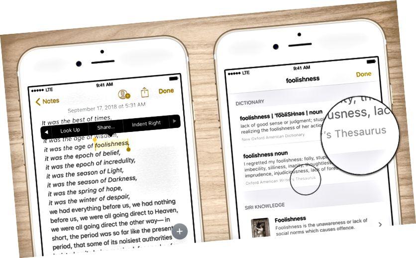 ຊອກຫາ thesaurus iPhone 12 ຂອງ iPhone 12