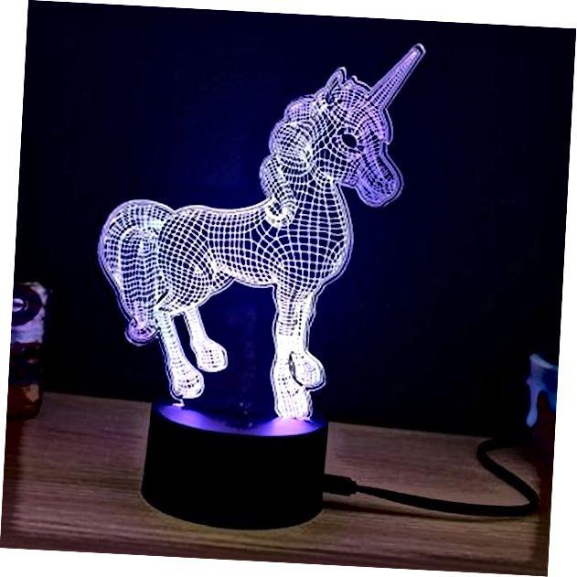 3D-агеньчыкі NiceMax Unicorn