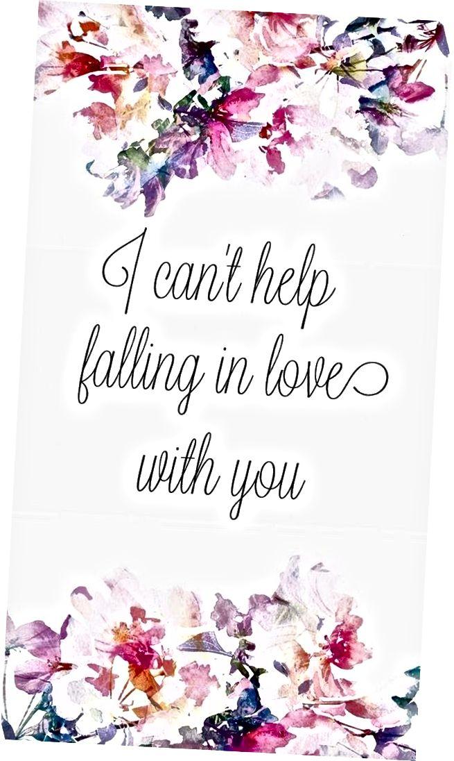 ich kann nichts dagegen tun mich in dich zu verlieben