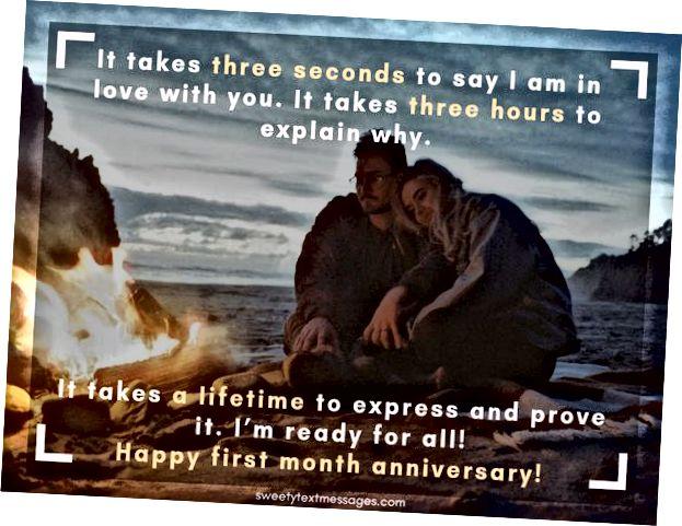 Najbolje tekstualne poruke za poželjeti sretnu jednomjesečnu obljetnicu