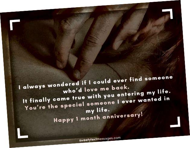 Sretno pismo za jednomjesečnu godišnjicu da pošaljem svog dečka