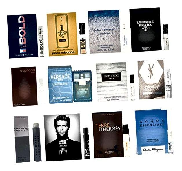 12 bočica za uzorke muškaraca iz Kölna (Tom Ford, Yves Saint Laurent)