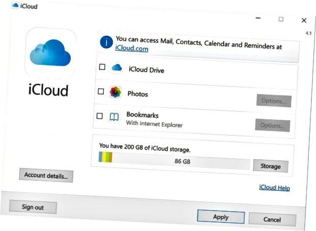 Windows-2-də iCloud-a daxil olun və istifadə edin