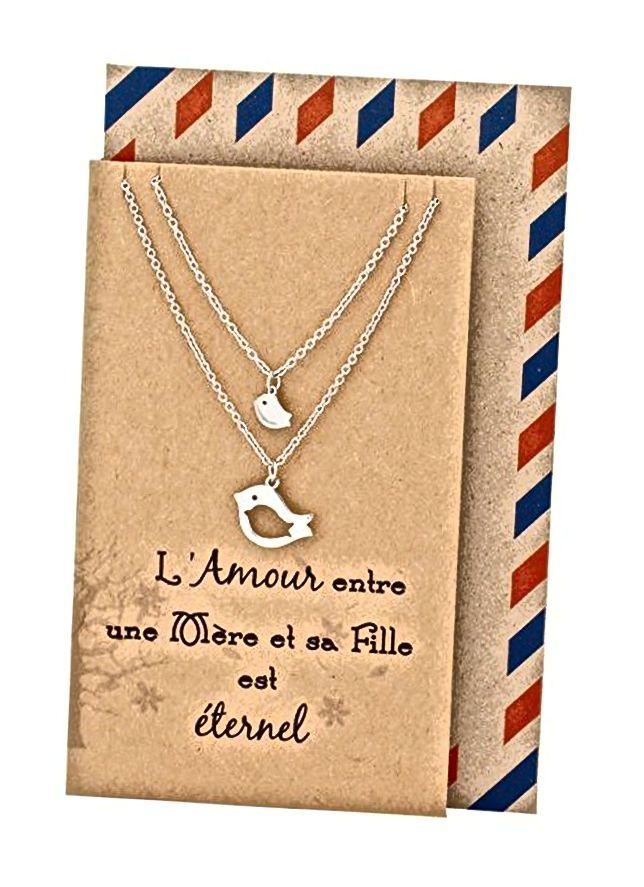 Quan Jewelry Mutter-Tochter-Halskette