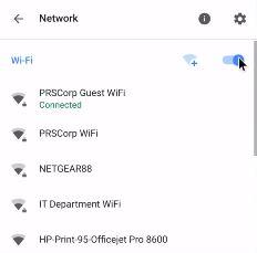 Schalten Sie Wi-Fi aus