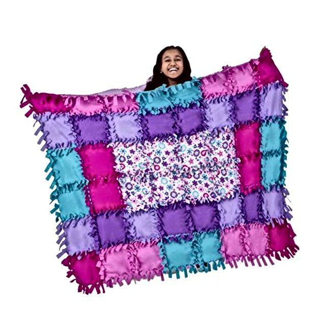 Komplet za izradu prekrivača od fleka od pletiva