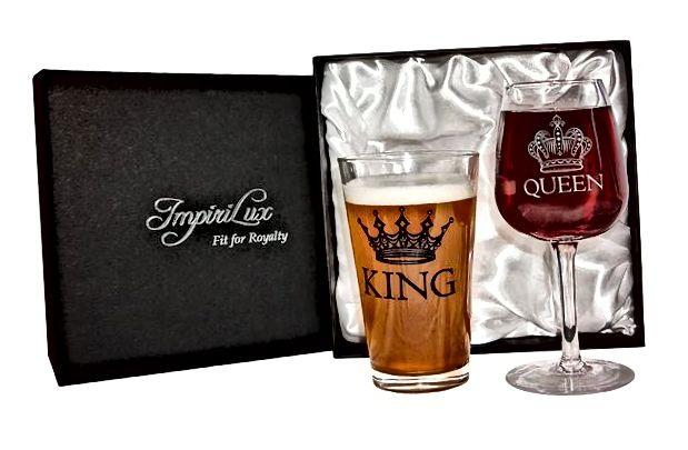 King čaša set za pivo i kraljicu