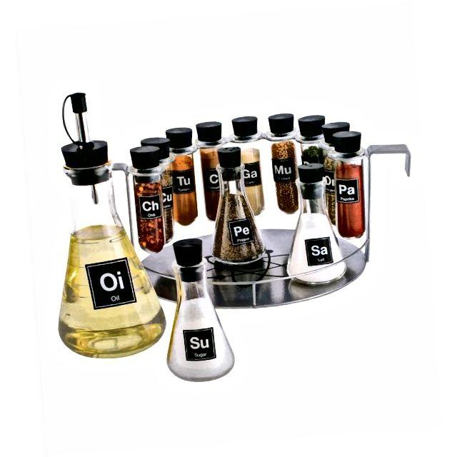 Ljekarna za začine za kemikalije, set polica za začin od 14 komada