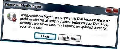 Windows Media Player dulkóðar DVD