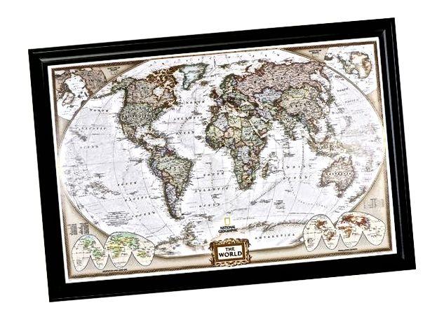 நிர்வாக உலக புஷ் பயண வரைபடம்