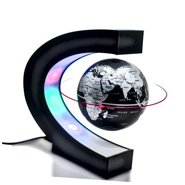 Carejoy C karta s magnetskom levitacijom plutajući globus svijeta