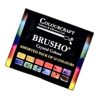 حزمة Brusho Crystal المتنوعة من 12 لونًا
