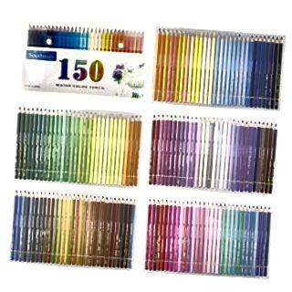 مجموعة من 150 أقلام مائية