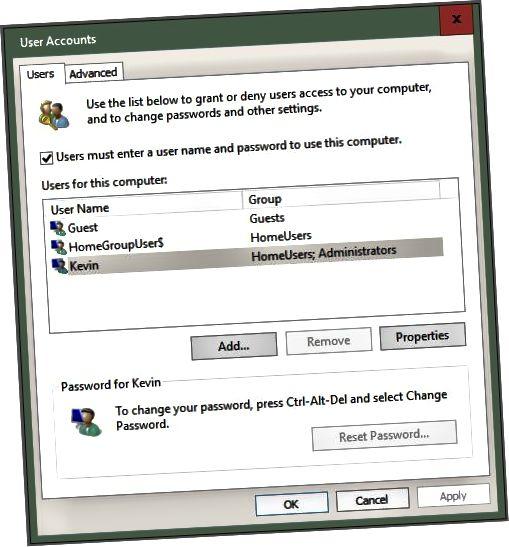 lösenords disable