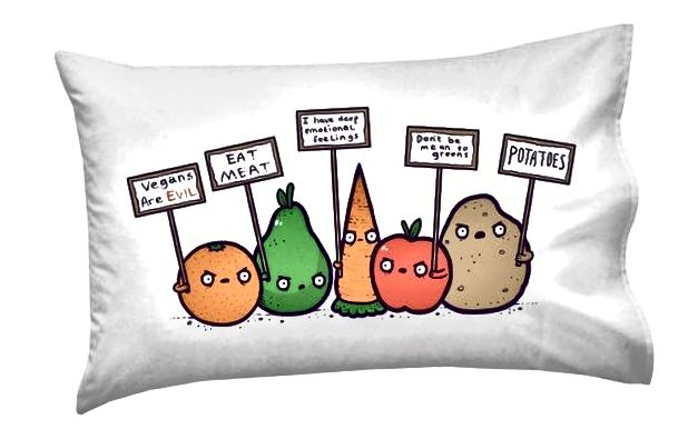 Prosvjedovanje Veganskih smiješnih jastučića