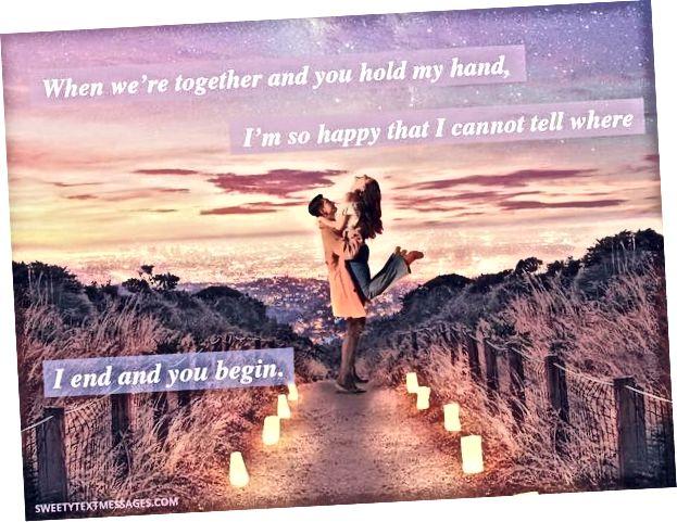 Idé om romantisk text för honom från henne