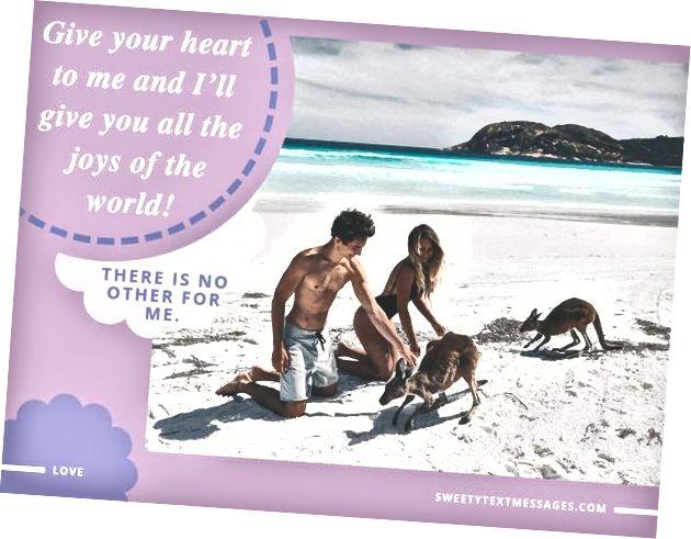 Slatka poruka s romantičnim riječima za djevojku