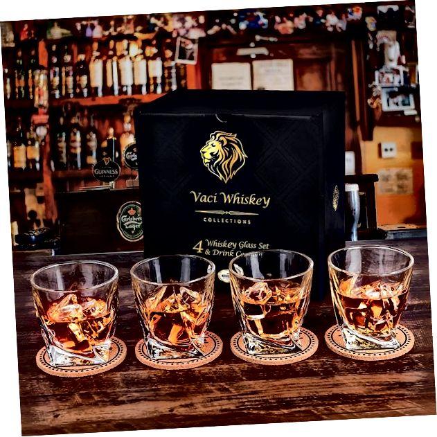 Vaci Glass Twist Whiskygläser 4er-Set