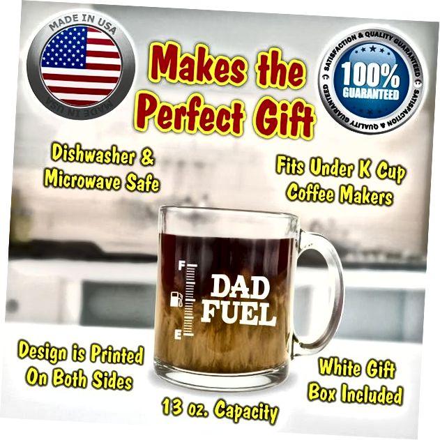 Papa Brennstoff Glas Kaffeebecher