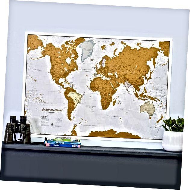 Kratz das Weltreiseplakat