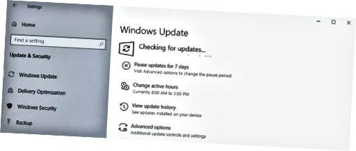Otsige Windowsi värskendusi