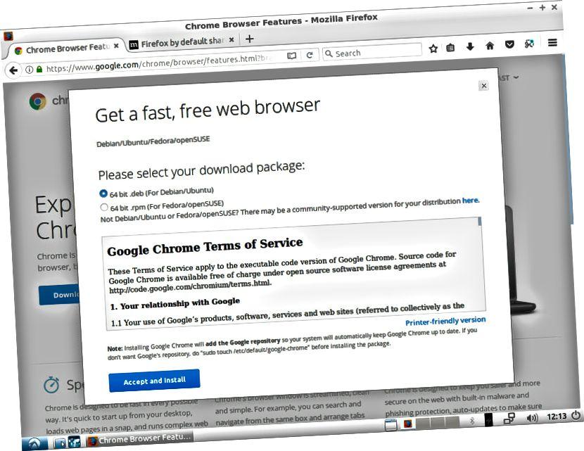 Ladda ner Chrome för Linux