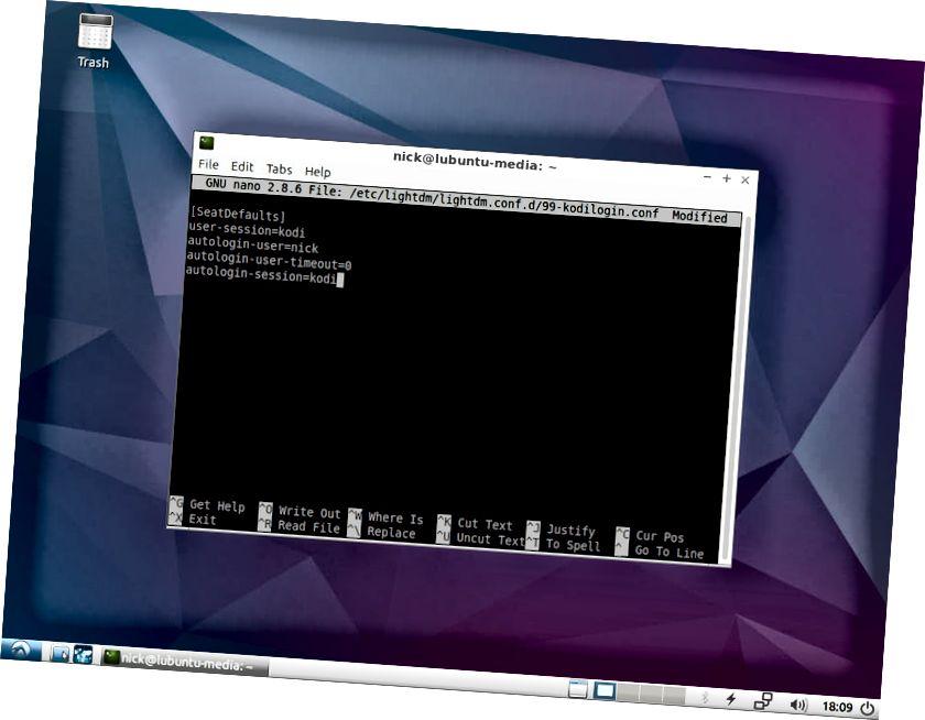 Lubuntu Kodi Autologin
