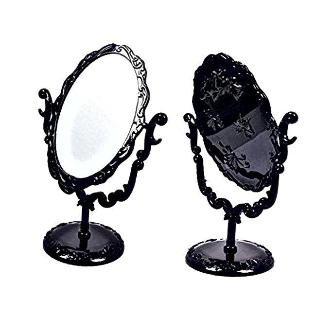Black Butterfly Desktop Mirror