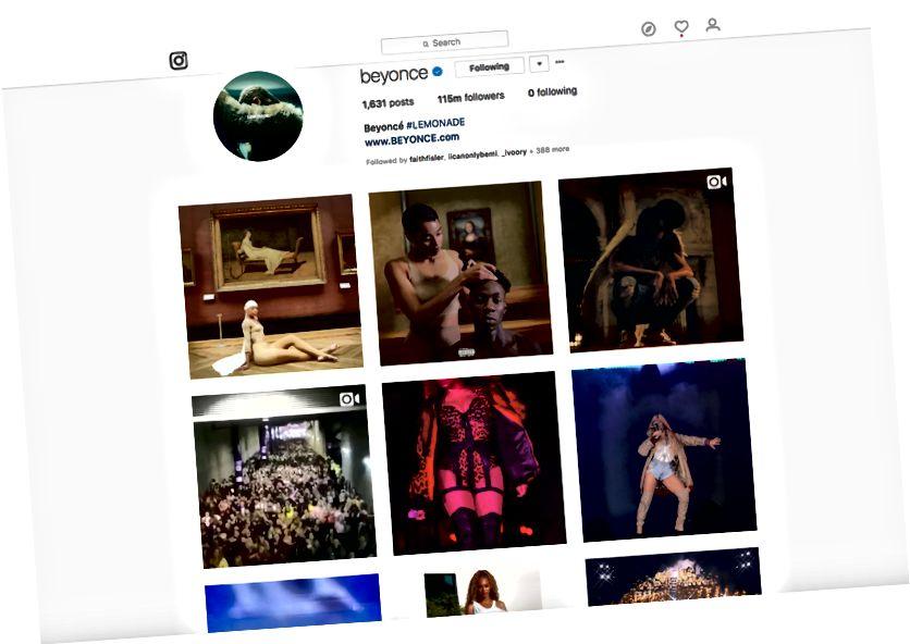 (Screenshot vun der Beyoncé's Instagram Säit)