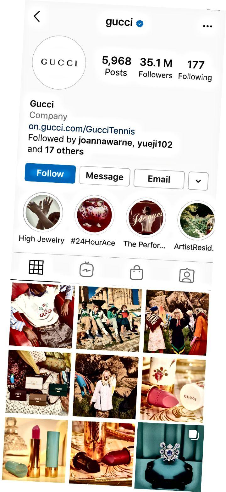 @gucci Instagram profil