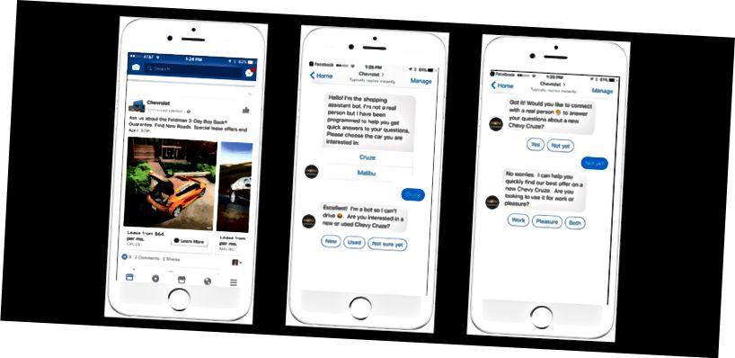 Rezultati: Facebook Messenger chatbot Feldman dosegao je više od 100.000 ljudi u nekoliko mjeseci, generirajući oko 50 prodaja mjesečno. (izvor: Buffer)