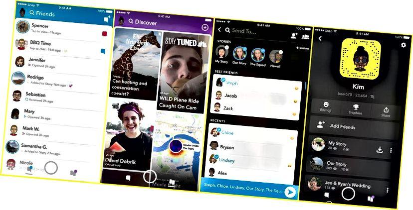 Şəkil https://www.theverge.com/2017/11/29/16712704/snapchat-redesign-friend-feed-discover-dən götürülmüşdür